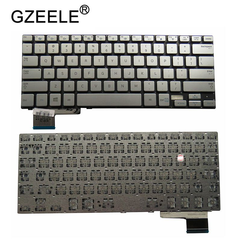 GZEELE New For Samsung 730U4 740U3E NP730U3E NP730U4 NP740U3E 730U3E Silver US English Laptop Keyboard Without Backlit