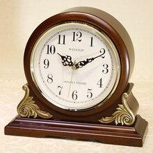 El más nuevo Estilo Anitque Mesa Reloj Mudo Estupendo Reloj Movimiento De Cuarzo de Alta Calidad Reloj De Madera Música Chime Reloj De Escritorio