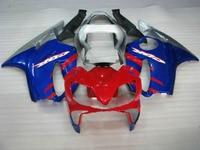 H Blue red silver Injection molding fairings kit for Honda 2001 2002 2003 CBR 600 F4i 01 02 03 cbr 600 f4i Minolta fairing body