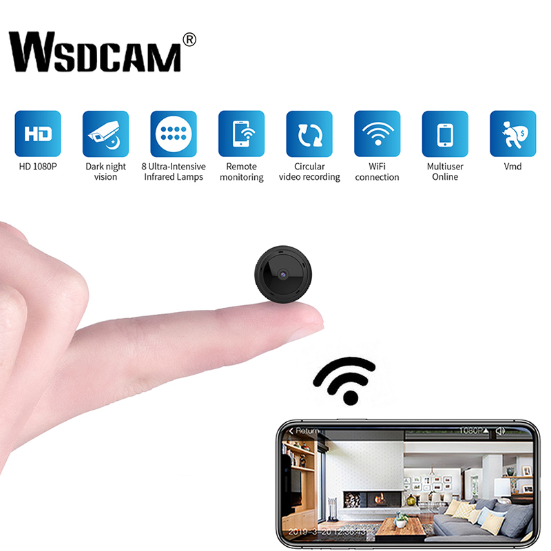 W10 1080P HD Mini WiFi Camera IR Night Vision Home Security IP Camera CCTV Motion Detection Baby Monitor Wireless DVR Camcorders