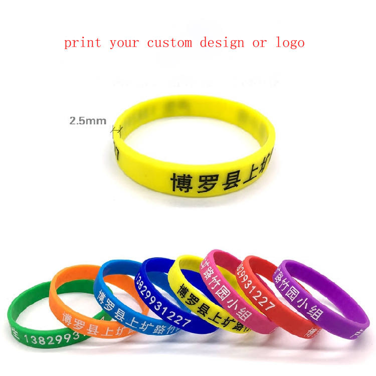 20pcs lot plain silicone bracelet Laser concave carved colouring intaglio process custom print logo lovers wristband