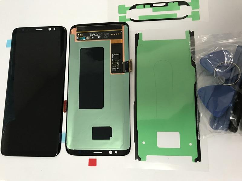 D'origine Pour Samsung Galaxy S8 G950 G950f Burn-dans L'ombre écran lcd avec numériseur à écran tactile Super AMOLED
