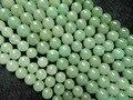 Envío gratuito cuentas de jade ( 3 unid/lote ) natural de 8 mm aventurina verde piedras redondas suave