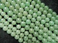Freeshipping jade beads (3 piece/ lot) natural  8mm green aventurine smooth round stones
