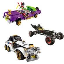 Compatible with Legoings batman Movie 3Set 1297 Pcs Joker`s Lowrider Penguin Classic Robbin`s Car Building Blocks Bricks Toys