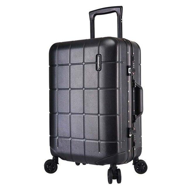 BeaSumore Rolling Luggage Spinner Men Aluminum frame Travel Bag 20 inch  Cabin Suitcase Wheels Women Korean Password Trolley 9a33e4b79d