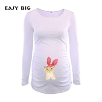 EASY BIG Customized Printings Cotton Women Maternity Tees Tshirts Pregnancy Tank Long Sleeve Pregnant Nursing Tops MC0060 1