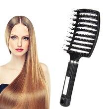 Hair Scalp Massage Comb Bristle Nylon Hairbrush Hair Care Massage Tool Anti-Static Women Hair Brush Comb Massager