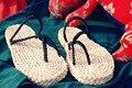 Envío gratuito anime una pieza del mono D Luffy Cosplay straw sandalias zori coat Waraji sandalias y Flip Flops zapatillas hecho a mano