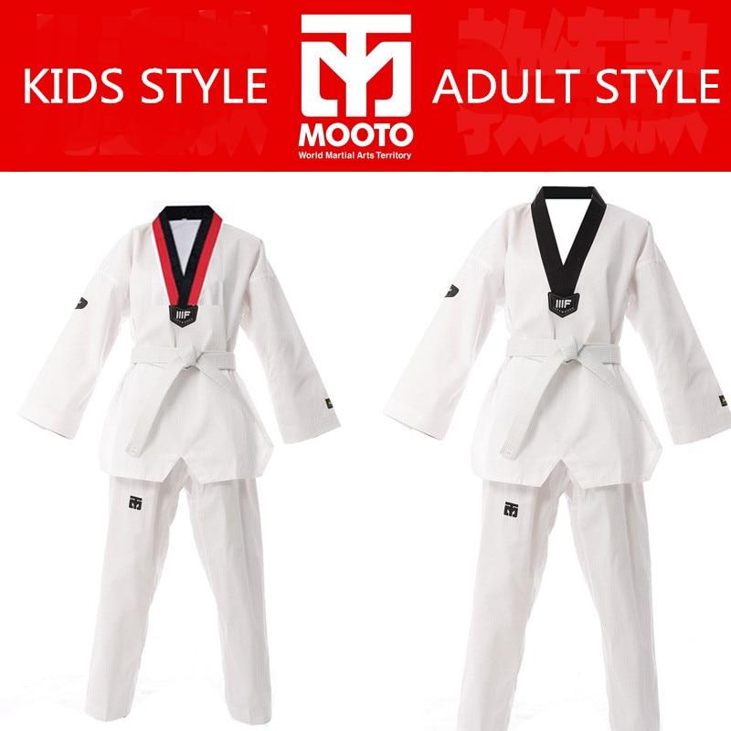 US $18.79 6% OFF|WTF Mooto taekwon do anzug kleidung kind erwachsene MOOTO ITF Karate anzug Taekwondo uniform Karate kleidung größe XXXL XXXS in