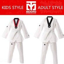 Mooto таэквондо WTF добок одежду ребенок взрослый MOOTO ITF костюм Каратэ Таэквондо равномерной Каратэ одежда размер XXXL-XXXS
