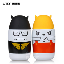 Lazybonnes portable lovers cup glass child cartoon stainless steel vacuum male womens