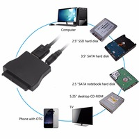 USB 3 0 To SATA Converter Adapter Cable For 2 5 3 5 HDD SSD US