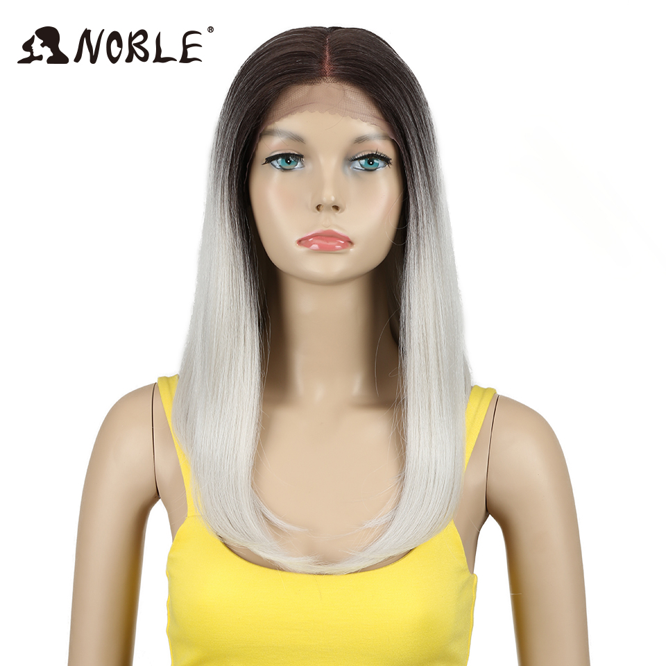 Noble Synthetic Lace Front Wig 18 Inch Long Straight Synthetic Wig Cosplay Wigs For Women Heat