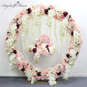 Image 2 - 1.2m/1.5m/2m/2.4m wedding prop iron ring shelf artificial flower wall stand door wedding background decor iron arch  iron stand