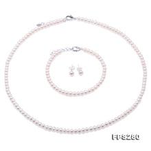 d2ff1bc1ade6 Conjunto de joyas de perlas naturales de piedra de joyería única para mujer  regalo pequeño 4-5mm collar de perlas de agua dulce .
