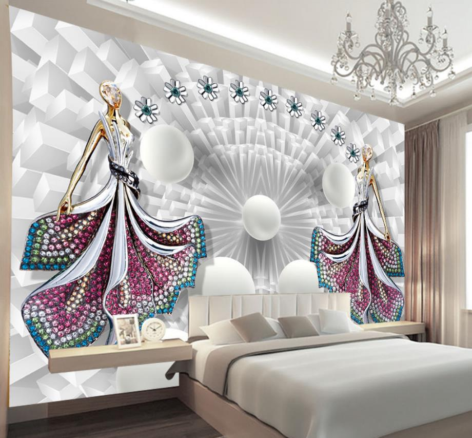 fashion 3d mural wallpaper customize Beauty jewelry wall murals for living room wallpapers for walls green flowers box wallpapers 3d room wallpaper for walls 3 d living room wall paper murals wallpaper mural roll
