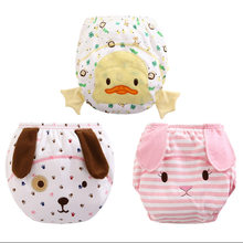 NEW 1pc Baby Waterproof Reusable cotton Diapers/Children Cloth Diaper/Reusable Nappies/Training Pants/Diaper Cover Washable ED58(China)