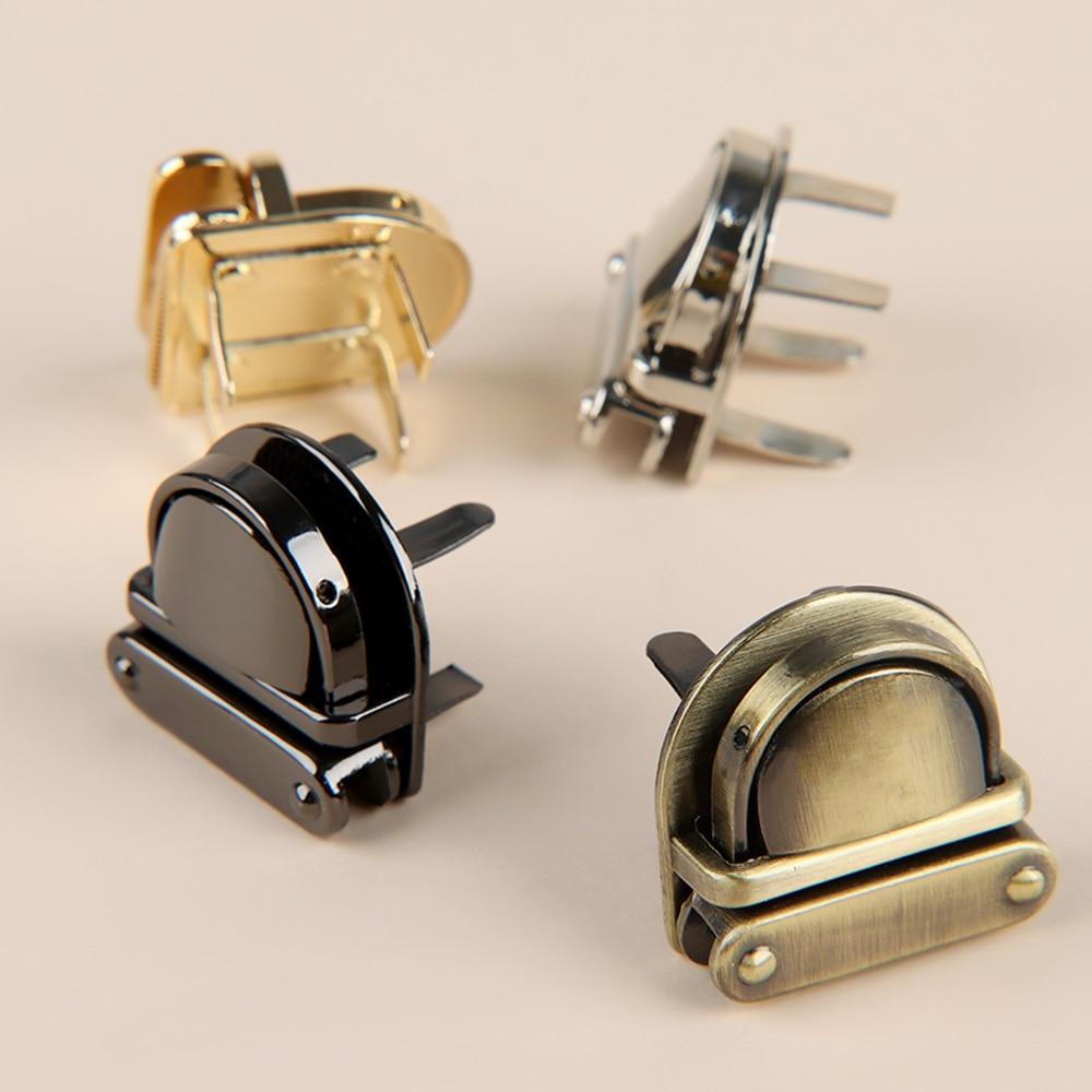 Bag-Accessories Purse Handbag Hardware Clasp Part-Closure Twist-Lock Metal DIY 1pc 4-Color