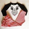2016 nuevo de las mujeres camiseta ocasional 166 más el tamaño de las mujeres del otoño ganador paño ciervos de fondo impresión de la camiseta ropa de moda de mujer de marca