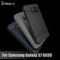 IPAKY For Galaxy S 7 TPU Cover Bag Brushed TPU Back Cover For Samsung Galaxy S7