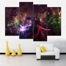 Zarya Modular Picture Living Room Wall Art Decor 4 Pieces Game Heroes of the Storm Canvas HD Print Poster Framework Or Frameless