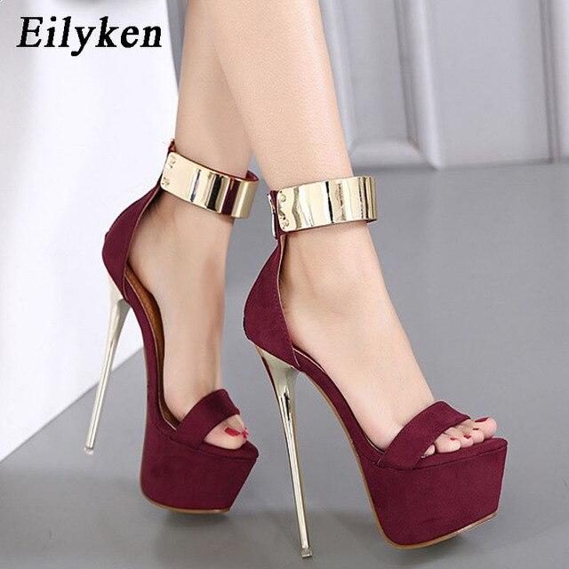 Ankle Strap heels Platform Sandals Party shoes For Women Wedding Sandals Women Pumps 4