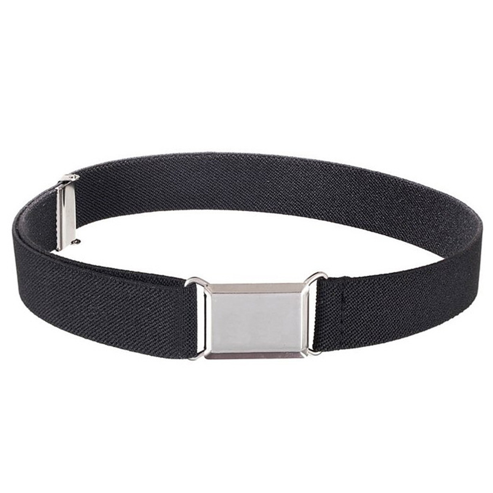 Kids Boys Girls With Buckle Elastic Decorative Belt Wide Waistband Solid All Match Stretch Adjustable Casual Wear Resistant