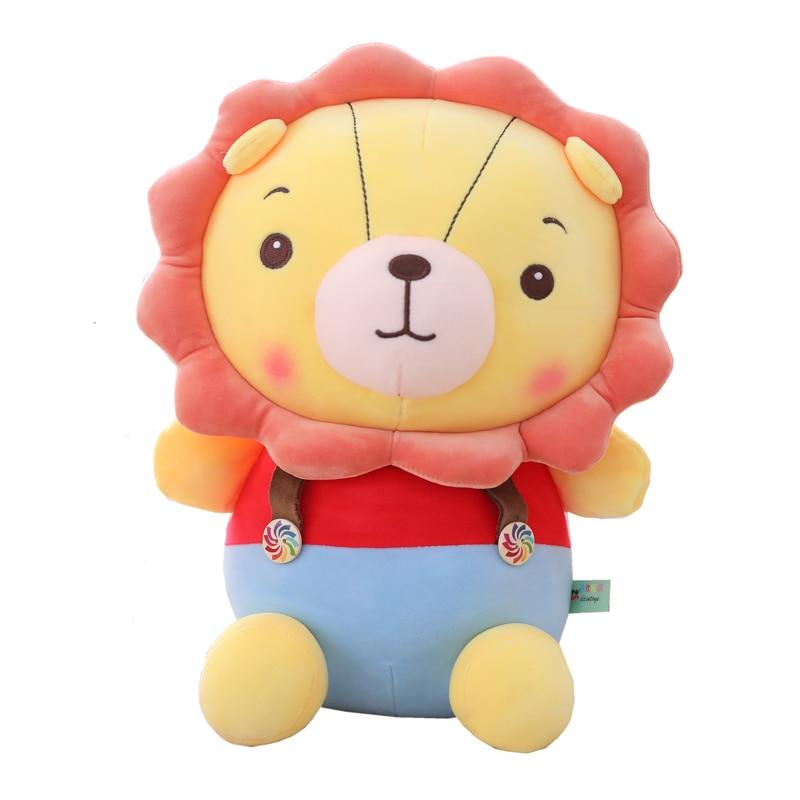 Hot New 1pc 30/40/50CM Sale Popular Cartoon Lion Stuffed Plush Doll Jungle Series Animal Toys for Kids Children Gift