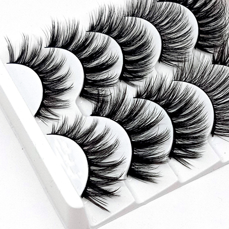 Image 4 - HBZGTLAD Mix 5pairs natural false eyelashes fake lashes long makeup 3d mink lashes eyelash extension mink eyelashes for beauty-in False Eyelashes from Beauty & Health