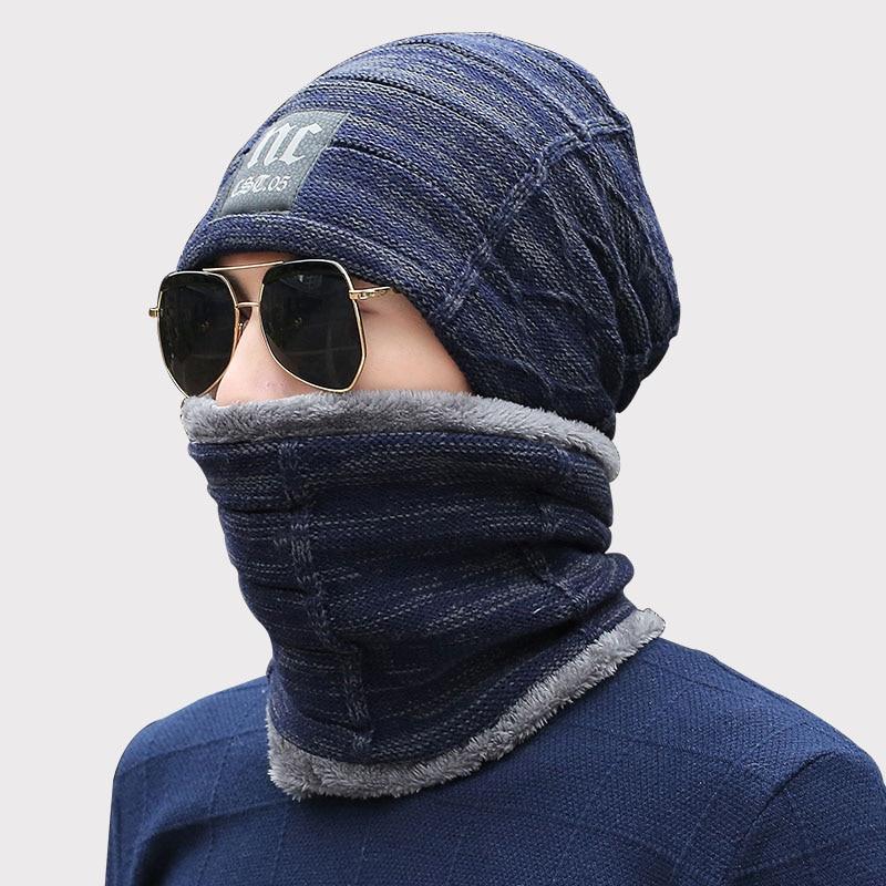2018 Neck Warmer Winter Hat Knit Cap Scarf Cap Winter Hats Women knitted Hat Men's   Beanie   Knit Hat   Skullies     Beanies   Gorros Mujer