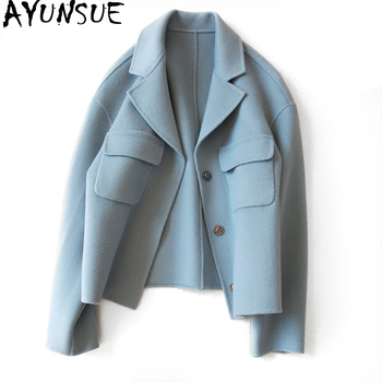 AYUNSUE Short Women's Spring Jacket 2019 Casual Wool Coat Female Autumn Winter Jackets Women Cashmere Coats abrigo mujer 1621