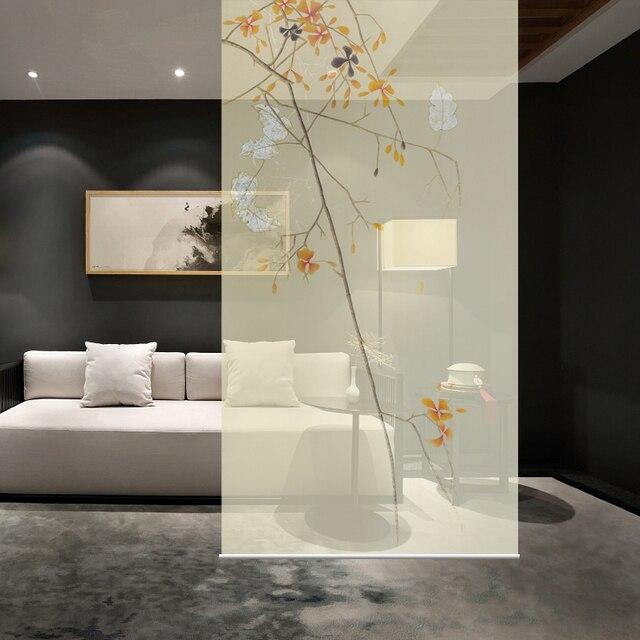 Anpassbare Biombo Hängen Wandpaneele Eingang Vorhang Weichen Partition Stilvolle  Wohnzimmer Eingang Guabing Flower B100CMX200CM