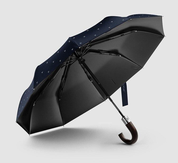 Wind Resistant Folding Automatic Umbrella Male Auto Luxury Big Windproof Umbrellas for Men Rain Black Coating Paraplu 50ys088