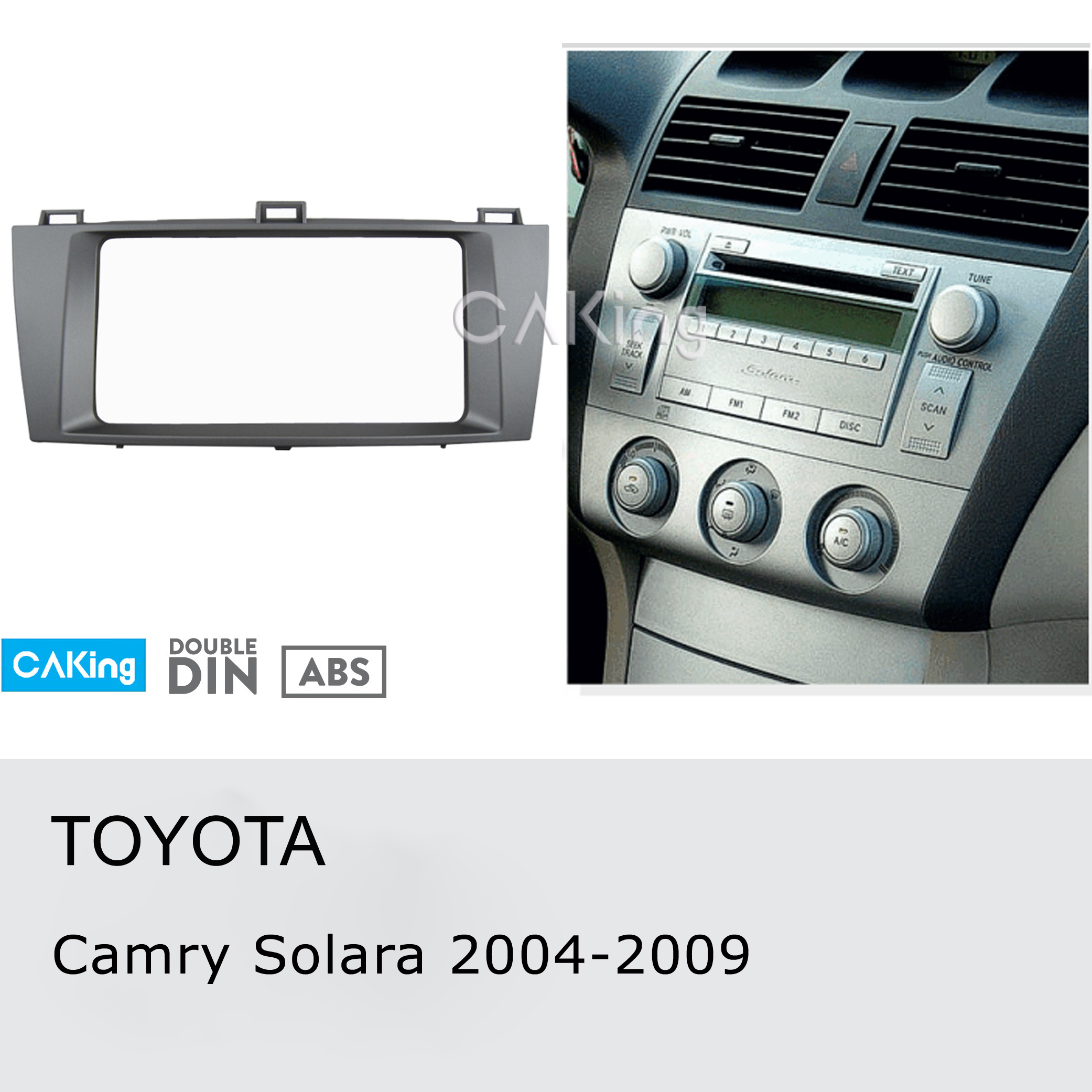 Car Fascia Radio Panel for TOYOTA Camry Solara 2004 2009 Dash Kit Install Console Facia Plate