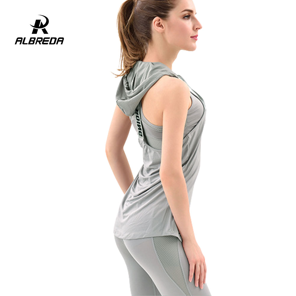 ALBREDA New arrival Women Yoga Sport Suits 3 piece Bodybuilding vest Pant Sets Fitness Workout Training Exercising sportswear
