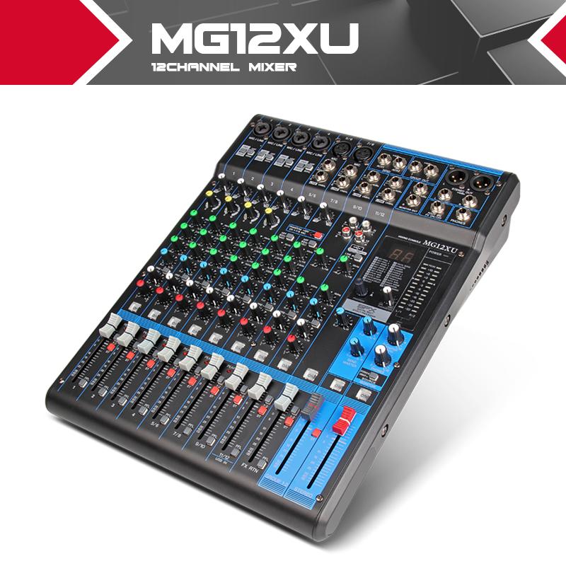 Prix pour NOUVEAU!! Y amaha Mélangeur profesional Audio consule MG12XU 12 canaux d'entrée Analogique Mélangeur Avec Compression et Effets LN pour la Scène DJ