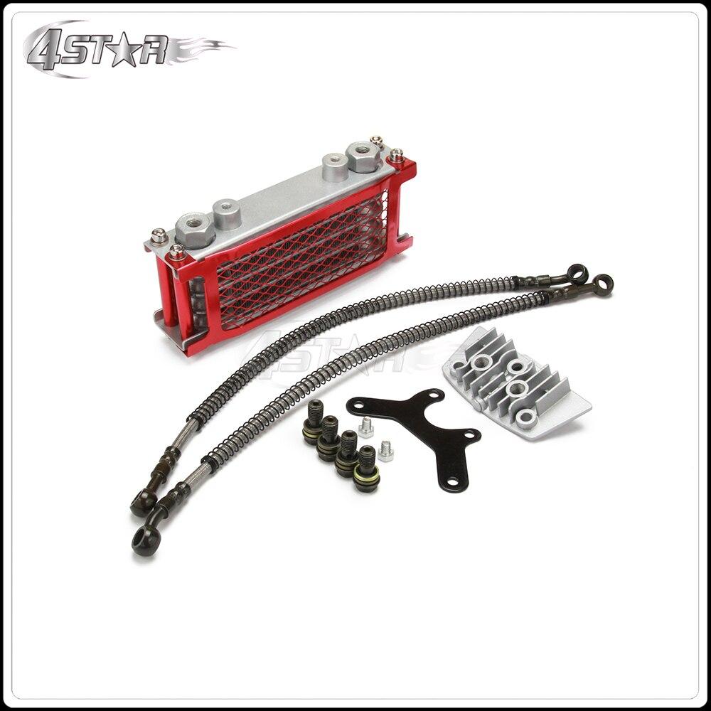 Radiateur de refroidissement d'huile de moto pour 50 70 90 110 moteur Horizontal chinois fait de la saleté singe vélo ATV SSR SDG TAOTAO