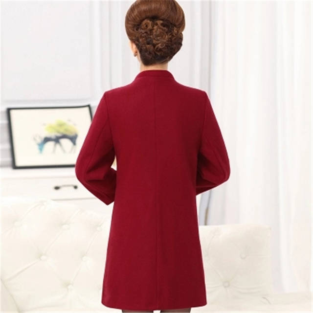 603855f9ca1 2018 NEW Fashion Plus Size Winter Jacket Coats Women Vintage Floral  Embroidery Wool Coat Middle aged