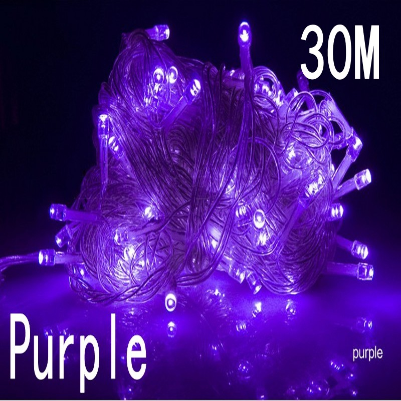 purple color 30m 240 led string lights for xmas holiday wedding party decoration halloween restaurant or