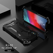 R-JUST Heavy Duty Case Metal Shockproof Cover For Apple iPhone X XS 5.8 XR MAX 6.5 Aluminum Coque Capinhas Cove