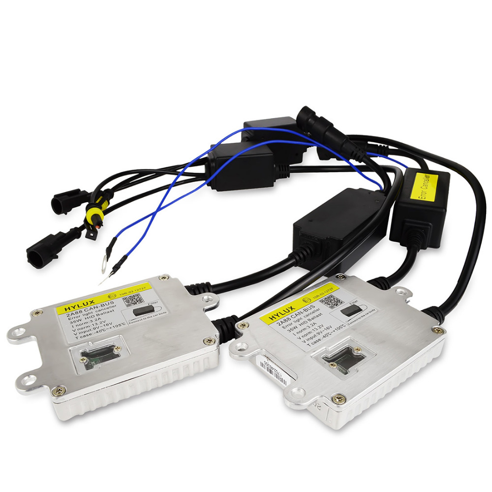 Safego 2 pcs hylux HID canbus ballast AC 35w 12v  ballast canbus  for hid xenon kit hylux canbus 35w xenon lamp dmex 12v 24v 35w ac fast start d2h hid kit xenon hid kit 4300k 5000k 6000k 8000k with hylux a2088 ballast