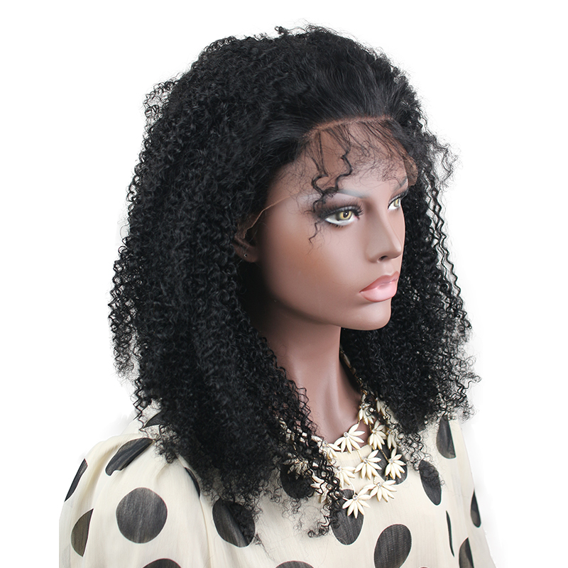 Eseewigs Afro Kinky Curly 150 Density Brazilian Remy Full Lace Wigs Human Hair Baby Hair Pre Plucked For Black Women Bleach Knot