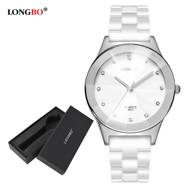 LONGBO Men Women Ceramic Watches Waterproof Couple Quartz Watch Casual Wristwatc