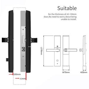 Image 5 - Akıllı elektronik kilit parmak izi kapı kilidi güvenlik akıllı kilit biyometrik Wifi kapı kilidi Bluetooth APP kilidini