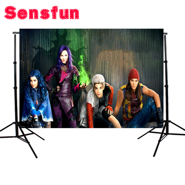 7x5FT Cartoon Scenic The descendants Children Birthday Party Custom Photo Studio Background Backdrop Vinyl