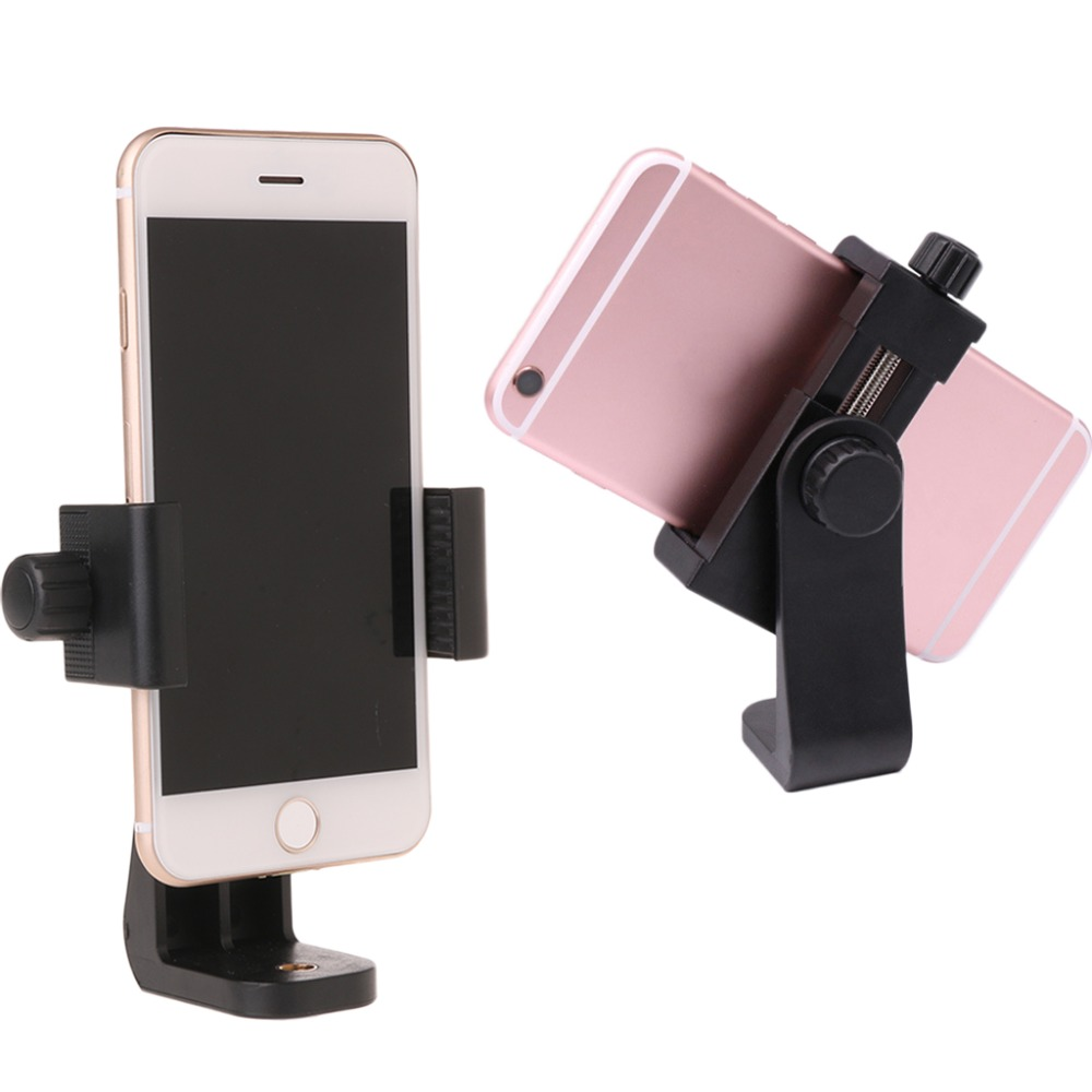 Universal Cell Phone Tripod Mount Clipper Vertical Bracket Holder 360 Degree Adjustable universal tripod mount adapter telescopic cell phone stand holder