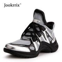 Jookrrix Autumn Girl Fashion Lady Casual White Shoe Women Breathable Sneaker Leisure Mesh Platform Shoe Flats Cross tied Female