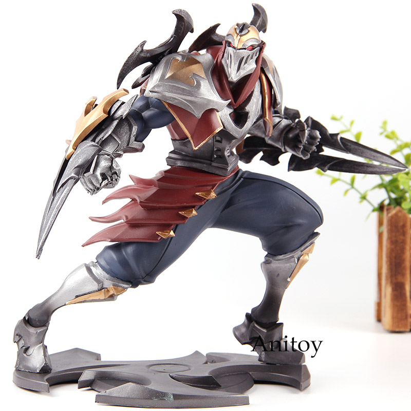 Riot Games The Master of Shadows Zed Unlocked 005 Actions Figure PVC Collection Model Hot Toys