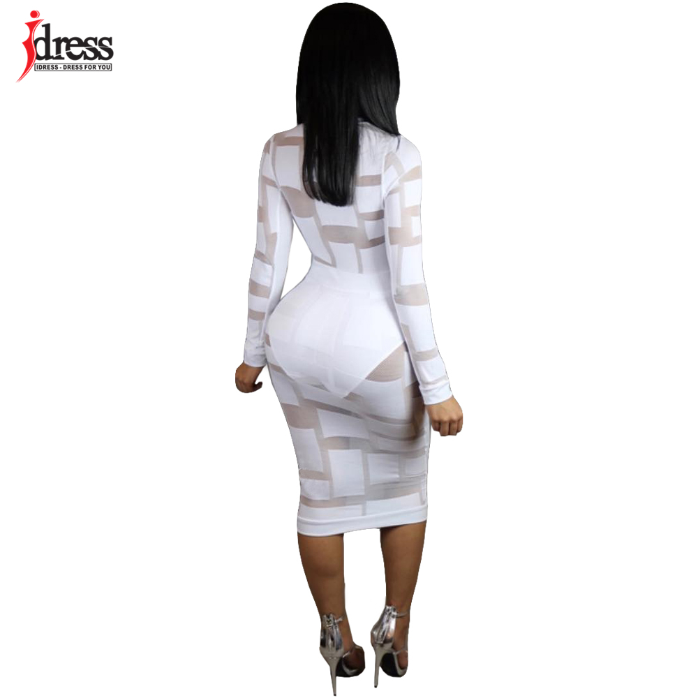 9c961d5ff IDress Black Blue Sexy See Through Mesh Dress Cheap Clothes China Fashion  2017 Evening Party Bodycon Long Sleeve Autumn Dresses-in Dresses from  Women's ...